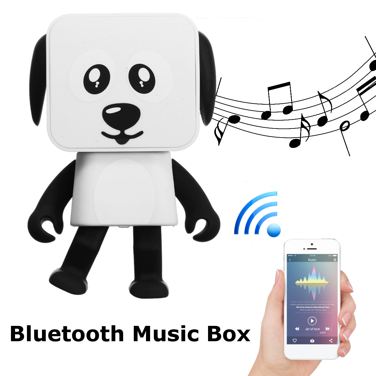 Hand Free Wireless Bluetooth Dancing Robot Speaker Box Stereo Music Loudspeaker For Phone/PC/MP3/Macbooks Cute Gift For Children