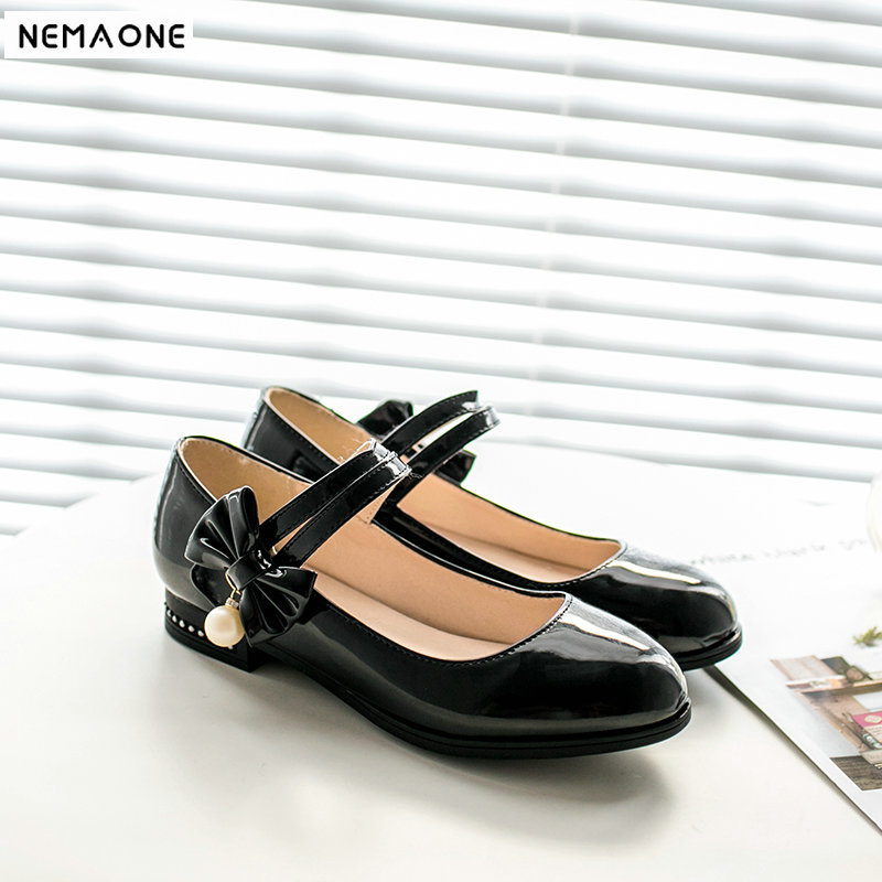 2019 New women shoes low heels shoes woman rouned toe casual shoes sweet bowties mary janes слипоны sweet shoes sweet shoes sw010awrwm57