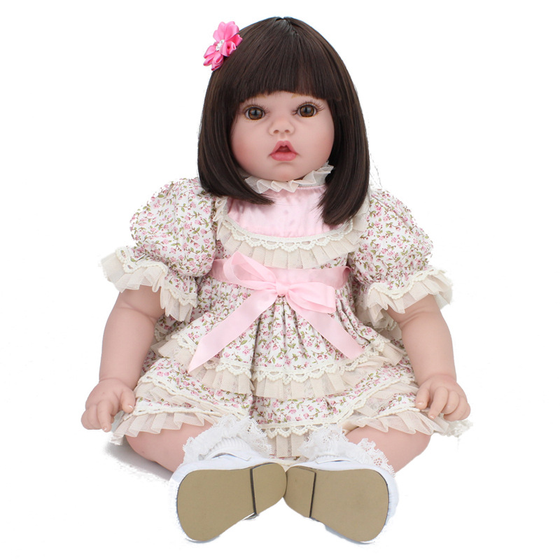 20 Inches Refinement Silicone Reborn Baby Doll Cute 50 CM Cute Kids Birthday Gift Play House Toy With Dresses Creative Gift L670 cute baby swing car walker without foot pedal scooters toddler stroller kids toy birthday gift