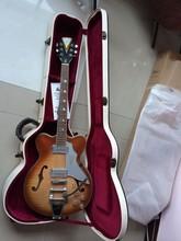 Außenhandel einzel Neue semi hollow Jazz e-gitarre mit brücke bigsby in sunburst top qualität 140605 keine hardcase