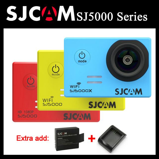 Série sj sj5000 sjcam sj5000 5000 wifi sj5000x originais elite 4 K Câmera de Ação de Esportes SJ cam + Extra 1 pcs bateria + carregador
