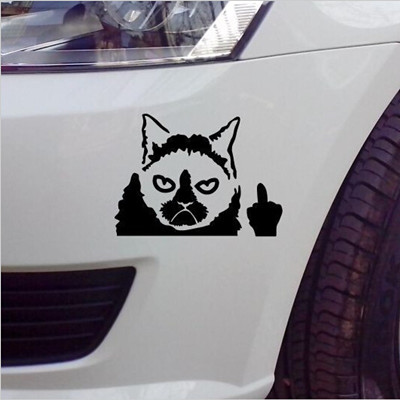 1pcx bad cat car sticker