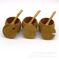 3Pcs Set Bamboo Covers Kitchen Seasoning Bottles Utensils Househould Multifunction Cooking Good Helper 2018 Fashion With