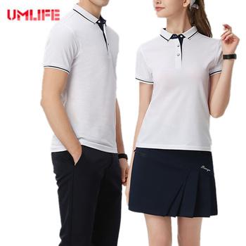 Unisex szybkoschnąca koszulka golfowa mężczyźni kobiety modne koszule Plus rozmiar sportowa tkanina z krótkim rękawem na zewnątrz odzież sportowa S-4XL tanie i dobre opinie Skręcić w dół kołnierz WOMEN Pasuje prawda na wymiar weź swój normalny rozmiar Anti-pot COTTON 10288