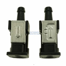 5/16 8MM fuel primer bulb connector for Yamaha a pair цена