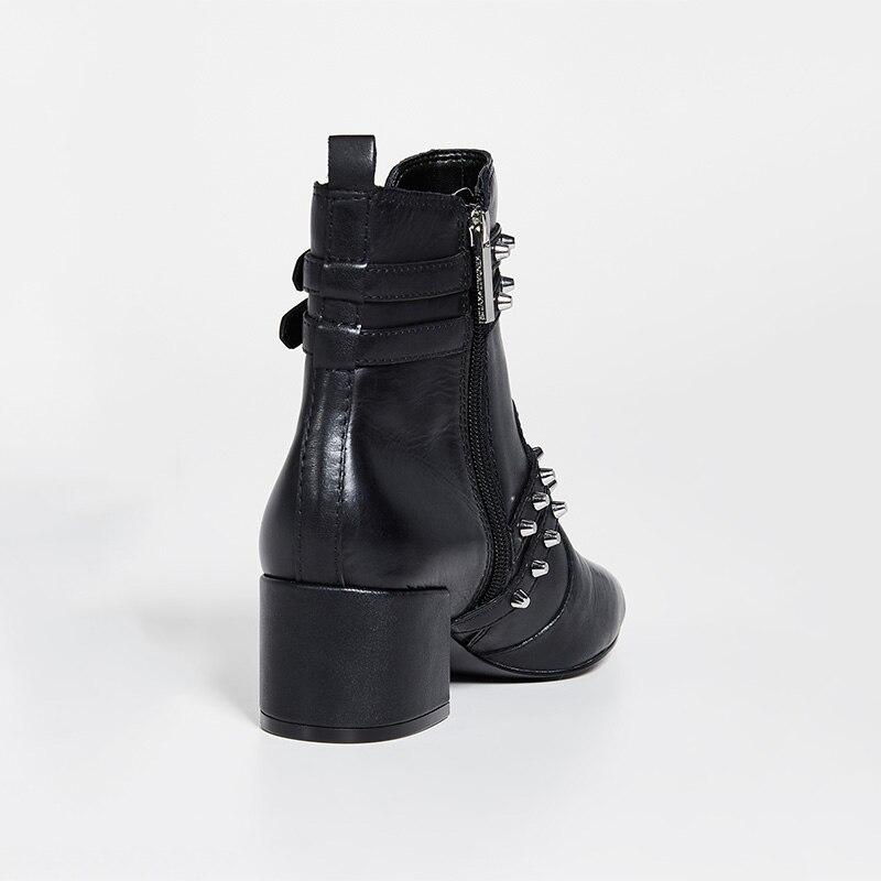 Noir Femmes Bottes Luxe 45 Grande Rivets 44 Bota Boucle Motos 43 Strap Talon Ty01 Peluche De Chelsa Bloc Dames Cheville Chaussures Taille Bas SzrSnx