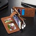 Кожаный Чехол для iPhone 6 6 s Plus Подлинная Кожа Коровы бумажник Телефон Сумки Случаи Кобура Бизнес Женщин Мужские Карт памяти Мешок