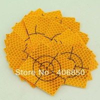 20pcs YELLOW Reflector Sheet 50 x 50 mm Reflective tape target FOR total station