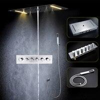 Bathroom Shower Faucets Accessories Modern LED Shower Head Set Ceiling Big Rain Shower, Mist, Waterfall, Column Shower Panel