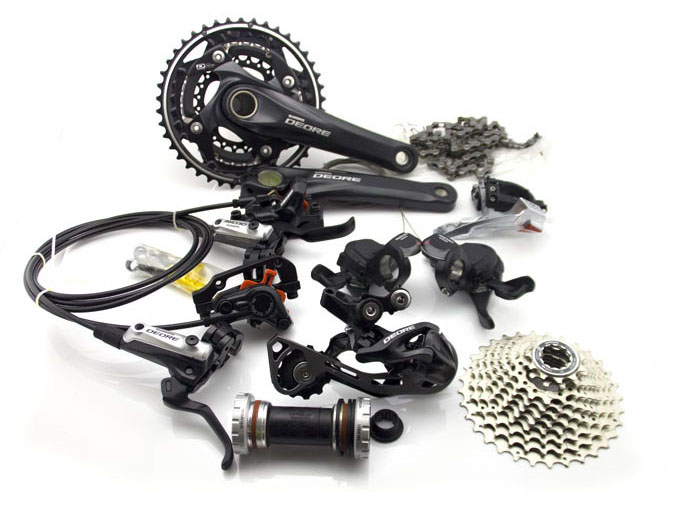 SHIMANO DEORE M610 3x10S 30 Speed Groupset With M615 Hydraulic Disc Brake MTB Mountain Bike Derailleurs BB goup set shimano deorext fd m780 m781 front transmission mtb bike mountain bike parts 3x10s 30s speed