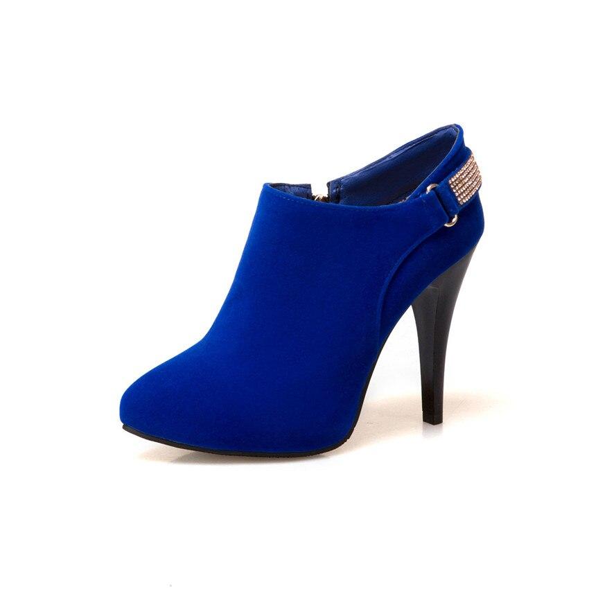 Großhandel Frühling Herbst High Heels Frauen Stiefeletten Pumps Frau Kurze Stiefel High Heel Schuhe Plus Größe 33 40 41 42 43 44 45 46 47 Von Mkfobia,