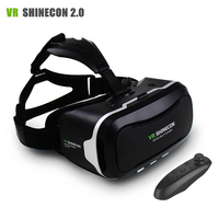 New VR Shinecon II 2.0 Helmet Cardboard Virtual Reality Glasses Mobile Phone 3D Video Movie for 4.7 6.0 Smartphone with Gamepad