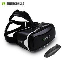 Новый Vr shinecon II 2.0 шлем картона виртуальной реальности Очки мобильного телефона 3D видео фильм для 4.7-6.0″ смартфон с геймпад