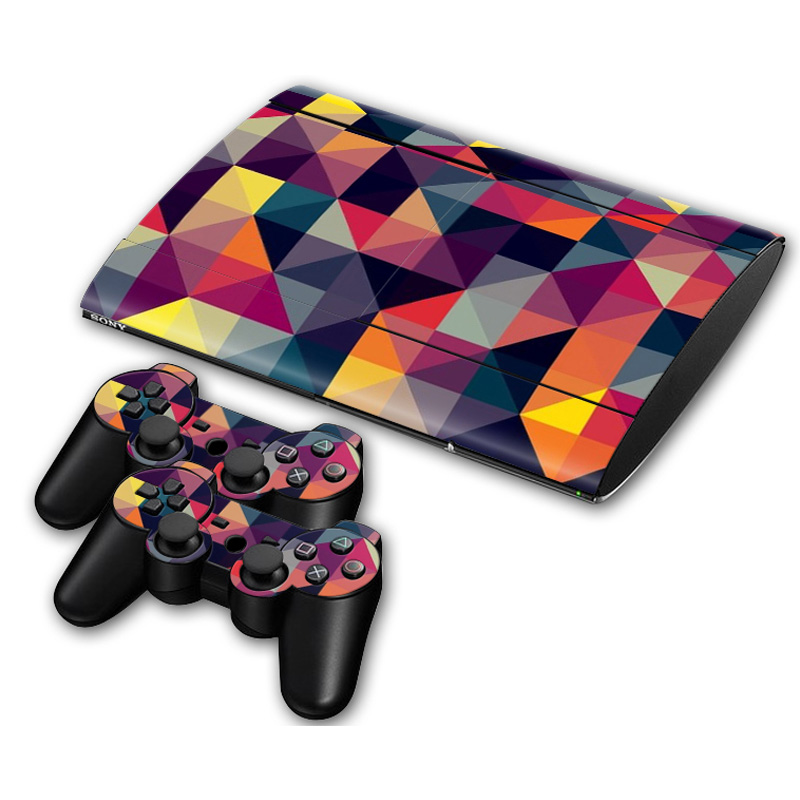 Vinyl decal dover for ps3 super slim console and 2pcs controllers skins Games accessories