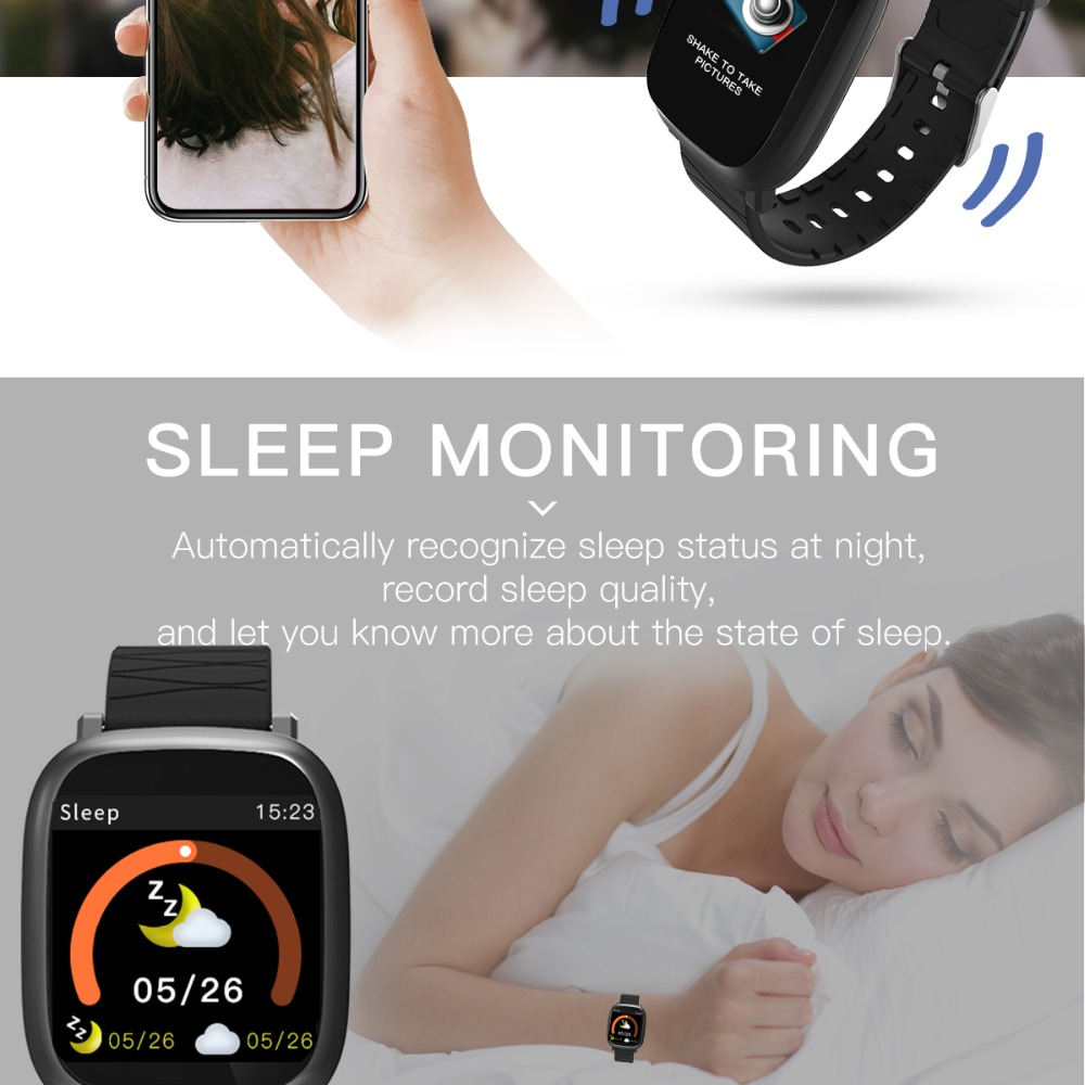 Bluetooth Digital Watch sport Fitness Tracker heart rate monitor For IOS iPhone 8