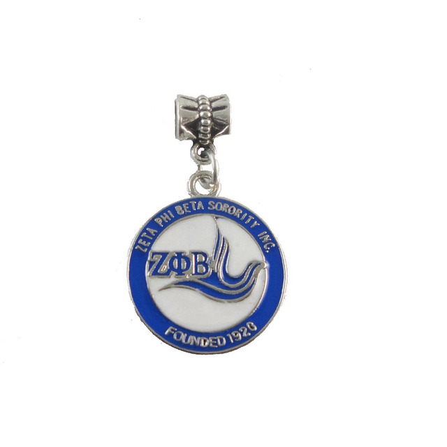 SORORITY GREEK ZETA PHI BETA Sorority enamel round charm founded ...