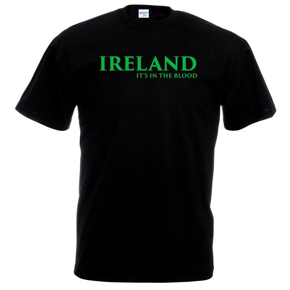 2018 S вещи Принт футболки оригинальные Ирландии в крови Футболка-футболист Rugbyer ирландский евро подарок рубашка с принтом