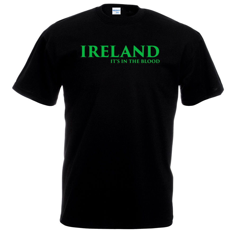 2018 s Things Print Tee Shirts Original Ireland In Blood T-Shirt - Footballer Rugbyer Ir ...