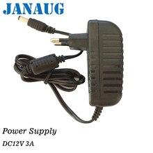 DC 12 вольт 3 Ампер настенный адаптер питания коммутация 36 Вт Регулируемый трансформатор мм 2,1*5,5 мм с DC Jack для светодиодные ленты огни, CCTV