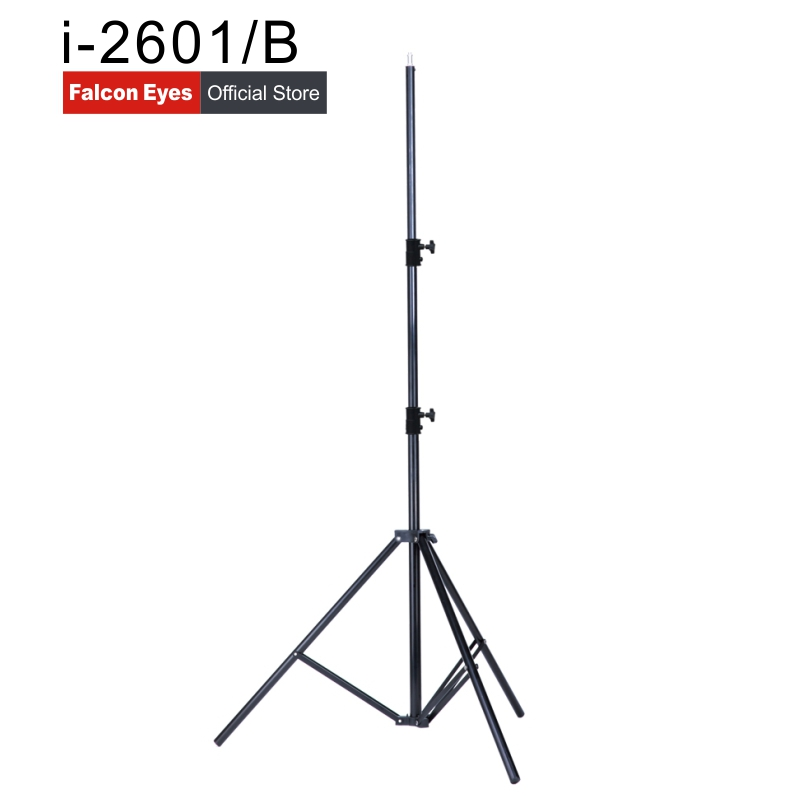 Falcon Eyes 2.6M Height Lightweight Camera Video Light Stand Portable Adjustable Light Stands 3 Sections DSLR Tripod i-2601/B держатель falcon eyes b reel