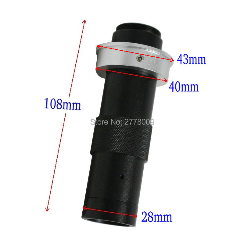 Free Shipping 8X -130X Magnification Adjustable 25mm Zoom C-mount Lens Glass for Industry Microscope Camera Eyepiece Magnifier fyscope industry lens 8x 100x magnification adjustable 25mm zoom c mount lens glass for industry microscope camera eyepiece