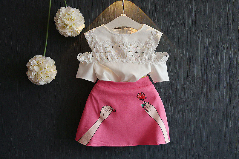 Summer Fashion Style Pink Girl 39 S Set And Pantsuit Shirt