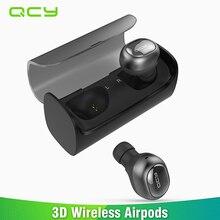Qcy q29 мини двойной V4.1 Беспроводной наушники bluetooth наушники с зарядным футляром музыке стерео время Встроенный микрофон для всех телефонов ПК