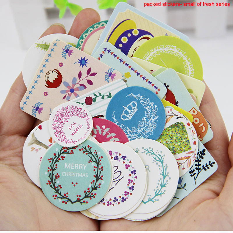 38pcs set diy kawaii girl cute animal paper sticker creative vintage romantic love gift diary decor