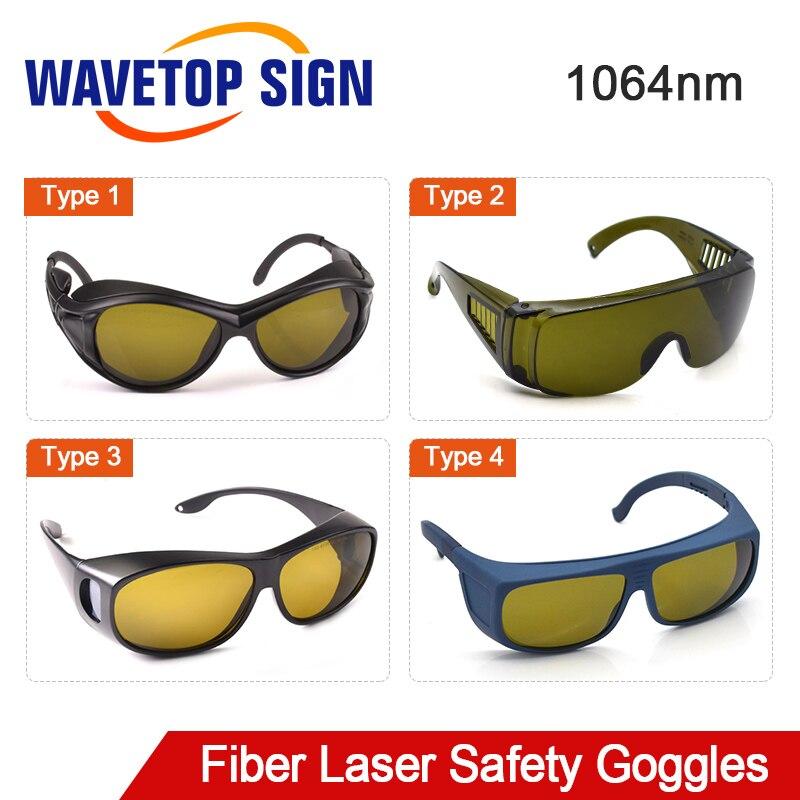 WaveTopSign 1064nm Laser Safety Goggles Protective Glasses Shield Protection Eyewear For YAG Fiber Laser