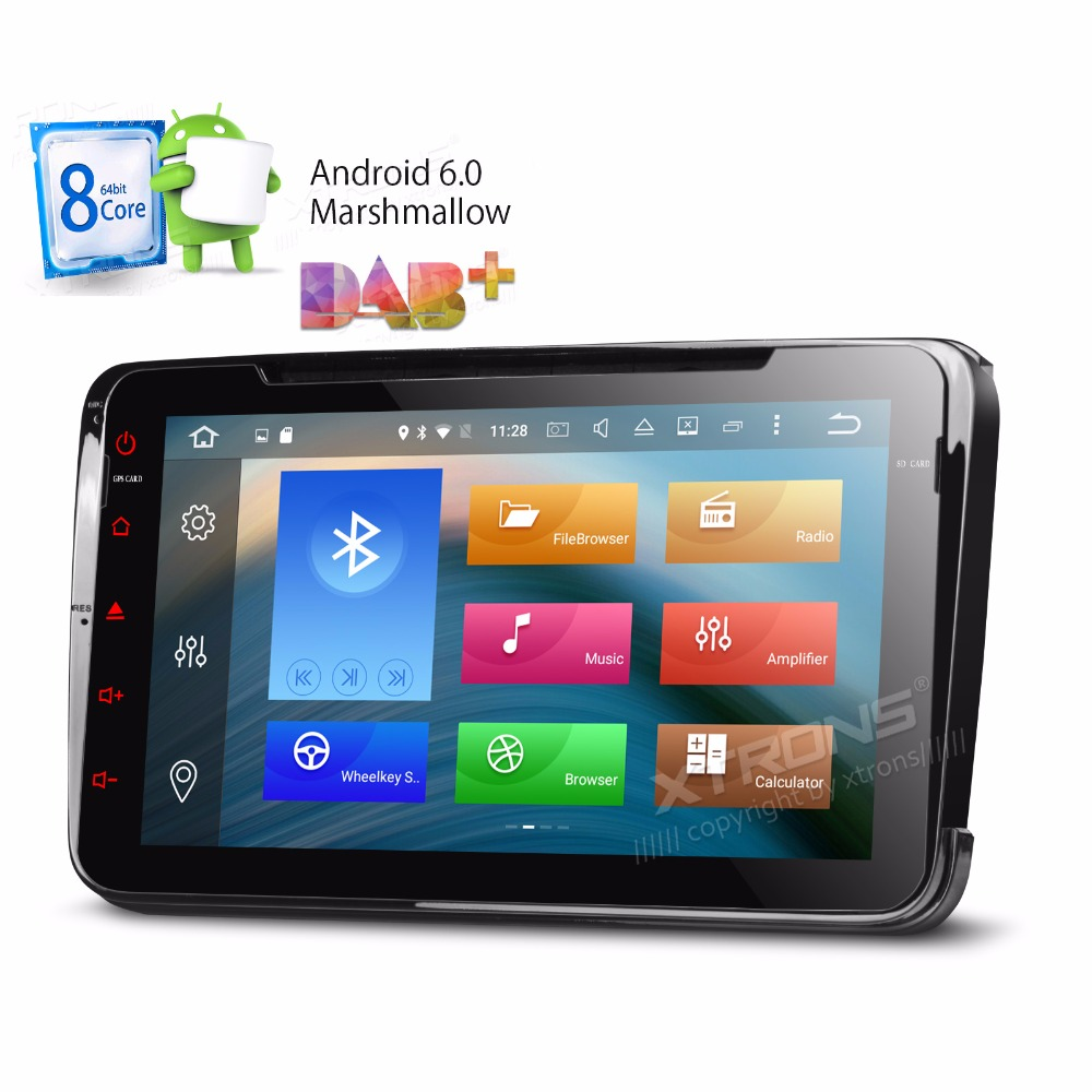 Xtrons 8&#8243; Android 2 Din 6.0 Octa 8 Eight Core Car DVD Player for vw Volkswagen <font><b>Golf</b></font> Passat Seat Teledo Skoda Yeti GPS Navigate