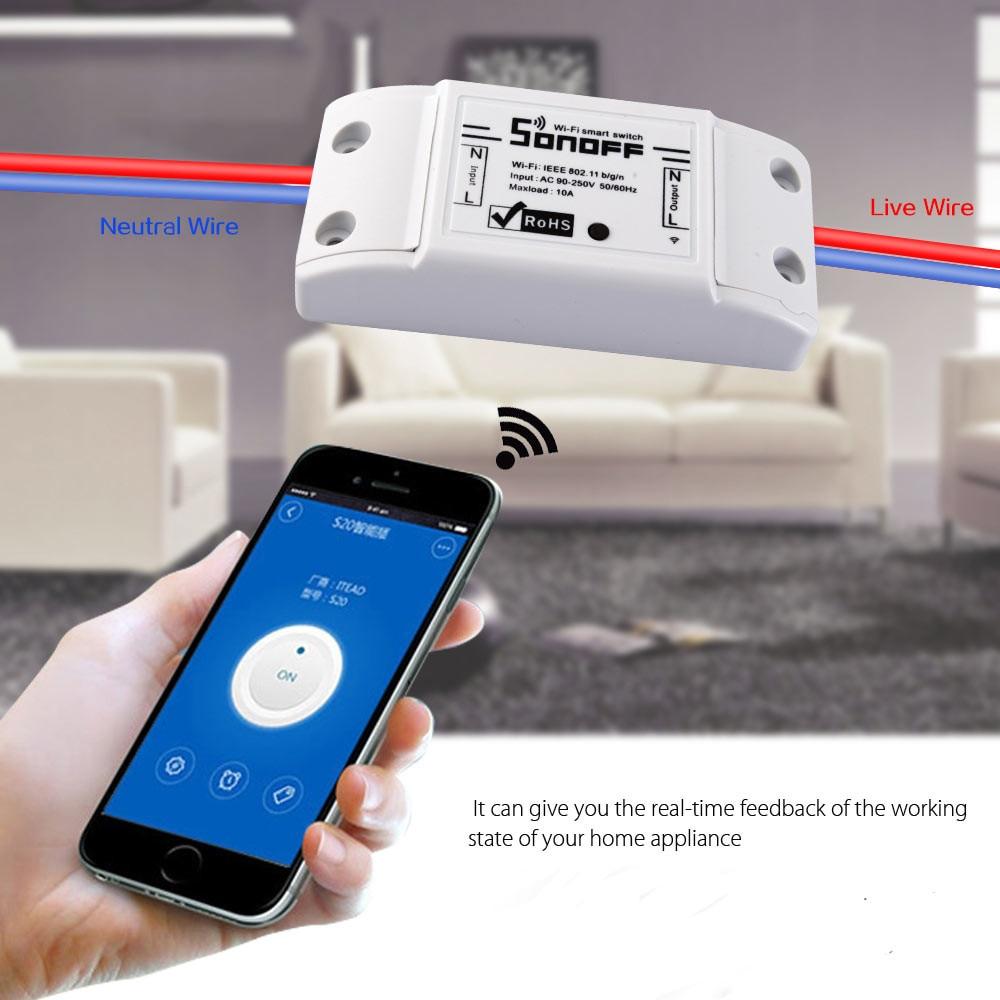 2018 sonoff DC220V Беспроводной Управление переключатель Wi-Fi Smart домашней автоматизации интеллектуальных Беспроводной центр для легких 10A/2200 Вт
