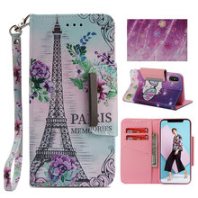 цена на IQD for iPhone Xs Max XR X Wallet Case for iphone 8 7 6 6s Plus Cover Wristlet Flip Card Slots Stand Premium PU Leather Cases