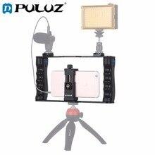 PULUZ Live Broadcast Smartphone Cage Video Rig Filmmaking Recording Handle Stabilizer Bracket цена 2017