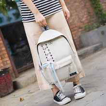 купить 2019 new style college students schoolbag New fashion women backpack Canvas Teenagers backpack female Laptop Backpack дешево
