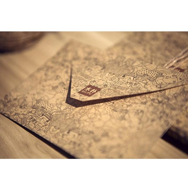 10 pcslot vintage retro kraft paper envelope for business card 10 pcslot vintage retro kraft paper envelope for business card style high quality free reheart Image collections