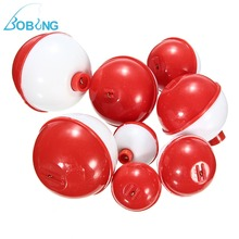 Bobing 8Pcs/set Assorted Mixed Sizes Round Plastic Sea Fishing Floats Bobbers Buoy Set Combo Fishing Tackle