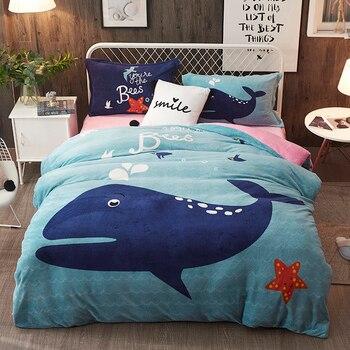 Thickening farai cute cartoon  Bedding Set Soft Bedclothes Duvet/Quilt Cover Bed Linen sheet set 4 Pieces Bedding Sets