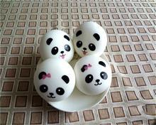 7cm Panda Squishy Charms Kawaii Buns Bread Key Bag Cell Phone Key Bag Strap Pendant Squishes