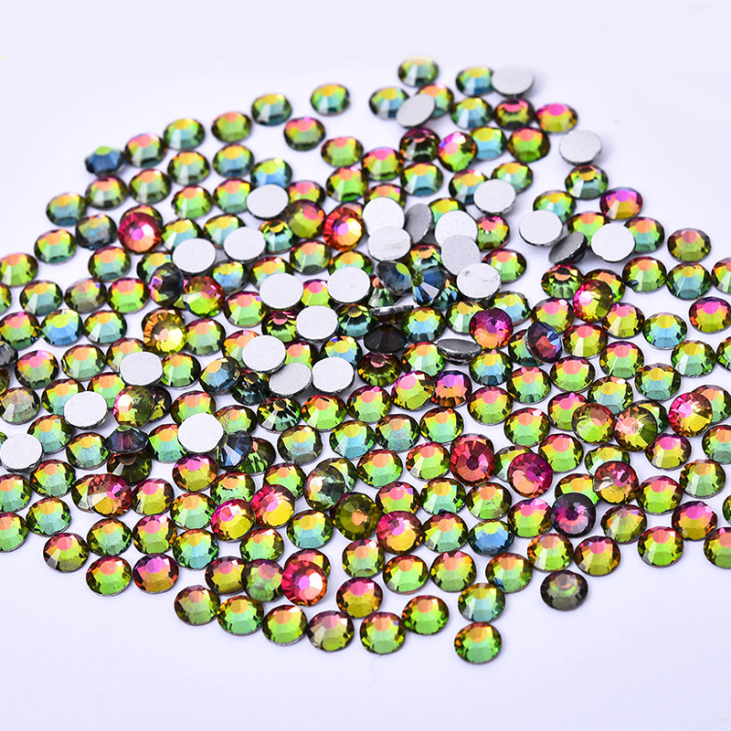 New SS16 Crystal Rainbow Crystal 1440pcs Color Non Hotfix Rhinestones For Nails 4.0mm Flatback Nail Art Rhinestones Nail Design ss6 1440pcs nail art rhinestones for nails 3d manicure decoration non hotfix glue on nails crystal flatback stone diy decoration