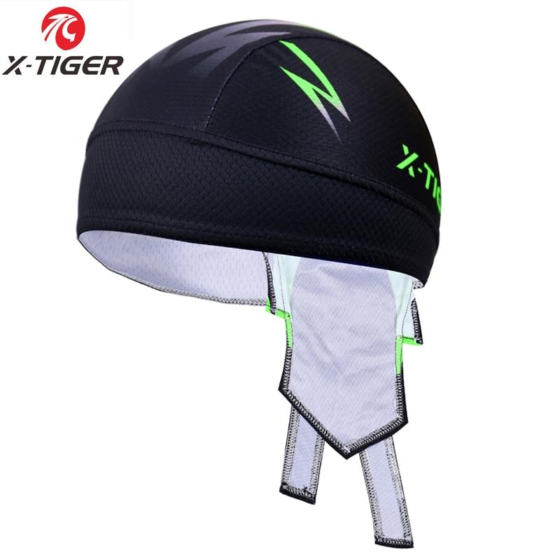 X-TIGER 100% Polyester MTB Bicycle Bandana Hat Flour Green Outdoor Sport Cycling Cap Pirate Head Scarf Headband Bike Headwear