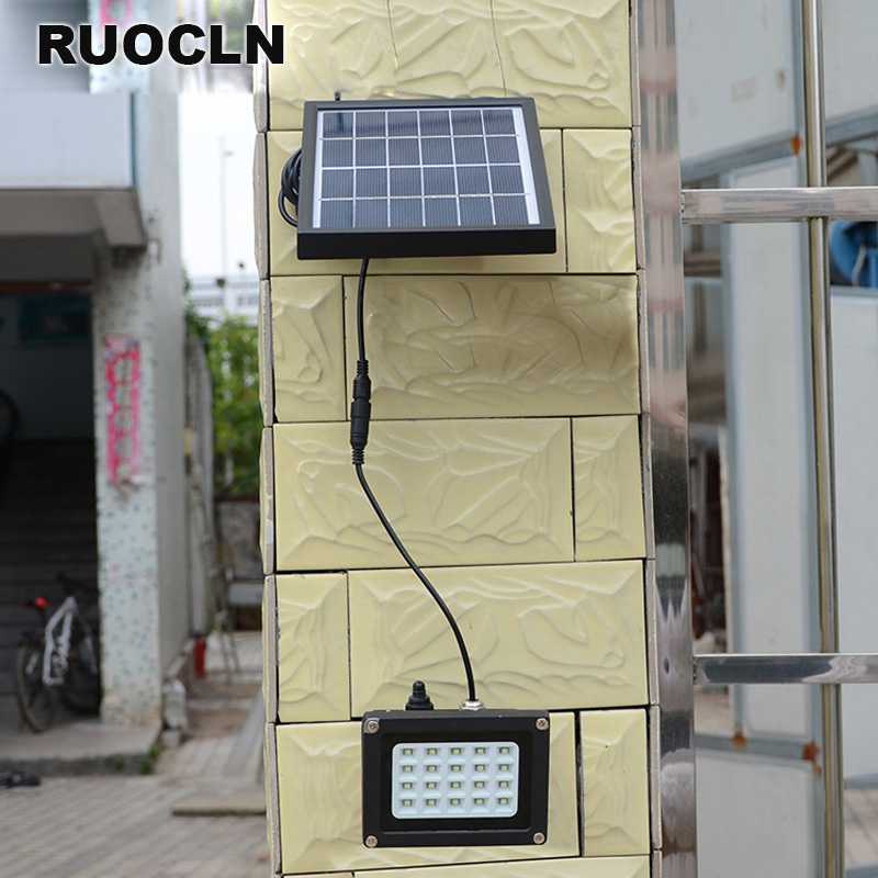 20 LED Solar Power Panel Floodlight IP65 3528 SMD Flood Light Motion Sensor Garden Yard Street Path Landscape Led Outdoor Light