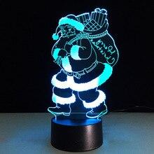Father Christmas Santa Claus Luminaria 3D Baby Light