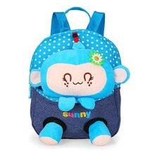2016 New Cute Bear School Bags Children Backpack Canvas Cartoon Doll Bear Children School Bags for