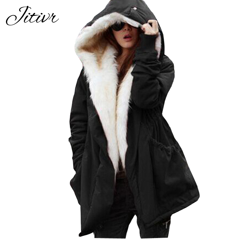 2017 New Women Long Sleeve Warm Cotton Winter Jacket For Female Solid Fashion Parkas Plus Size Hooded Slim Outwear Europe Style new fashion winter solid long sleeve womens coat plus size pink short down warm jacket casual parkas for women 65238