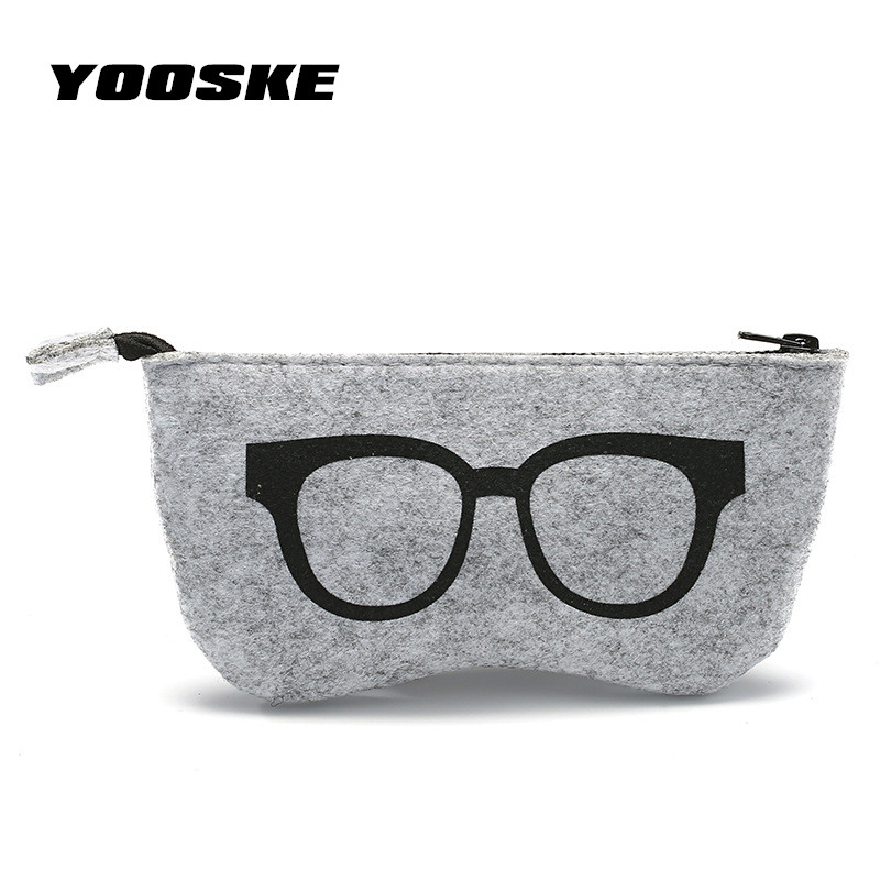 Tireless Yooske Fashion Eyeglasses Accessories For Men Women Sunglasses Case High Quality Wool Felt Eyewear Bags Portable Glasses Bag Elegant In Smell Apparel Accessories