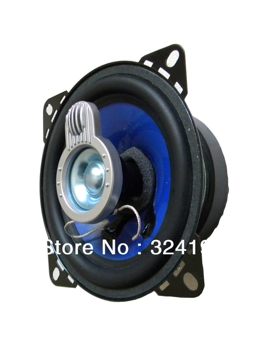 a8b94e816a Azul inyección cono de goma 4 pulgadas Coaxial altavoz audio del coche, 220  vatios 4OHM del coche más fuerte acústica altavoces de gama