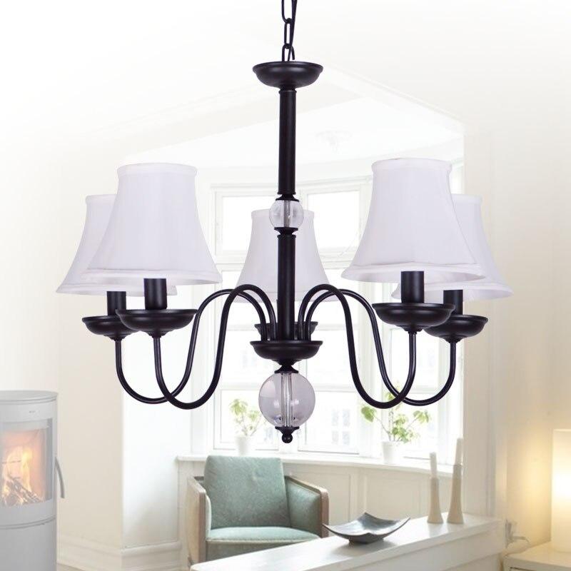Nordic American village vintage wrought iron chandelier IKEA ...