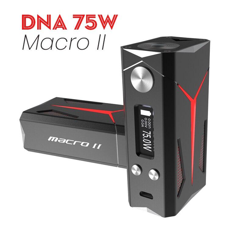 Sbody Mise À Jour Macro DNA75 TC Vaporisateur Boîte Mod Macro II ADN 75 w Puce Vaporisateur Fit 18650 Batterie RDA RTA réservoir E Cigarette