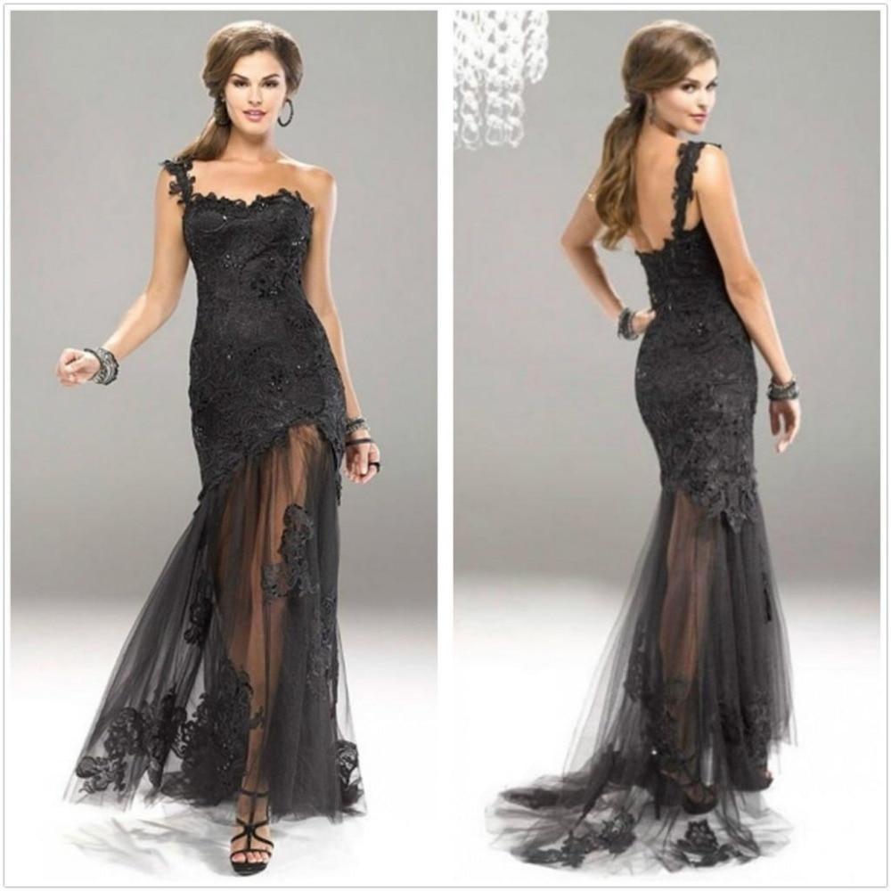 Black Lace Bottom Dress