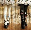 Princesa dulce pantimedias lolita harajuku japonesa que restaura maneras antiguas Alice serie de cuchillos y forksPrinting pantyhoseLWK64
